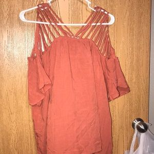 Top with cut out sleeves